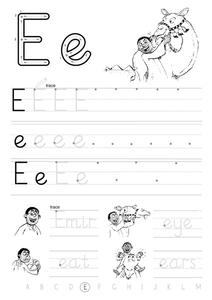 "The Letter ""E"" Worksheet"