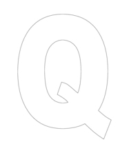 The Letter Q-- Hollow Worksheet