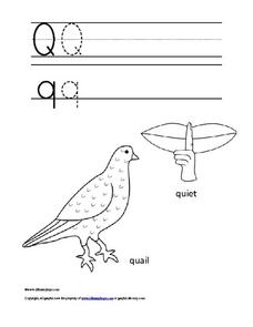 The Letter Q q Worksheet