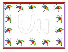 The Letter U- Full Color Poster Worksheet