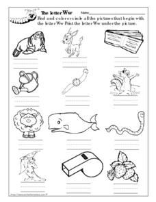 The Letter Ww Worksheet