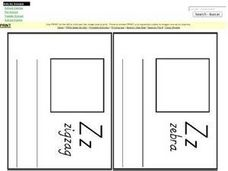 The Letter Z-  Mini Book Pages Worksheet
