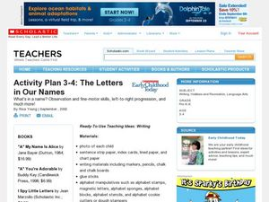 The Letters in Our Names Lesson Plan