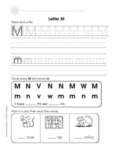 The Letters M and N Worksheet