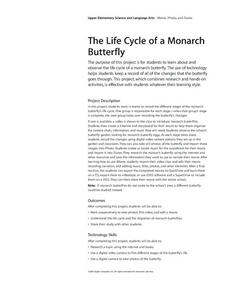 The Life Cycle of a Monarch Butterfly Lesson Plan