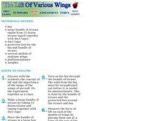 The Lift of Various Wings Lesson Plan