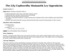 The Lily Cupboard by Shulamith Ley Oppenheim Lesson Plan