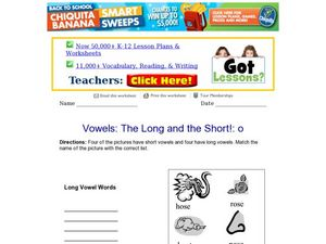The Long And The Short!: O Worksheet