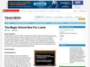 The Magic School Bus For Lunch Lesson Plan