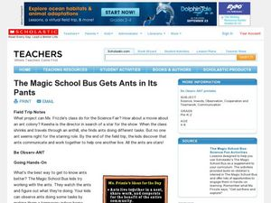 The Magic School Bus Gets Ants in Its Pants Lesson Plan