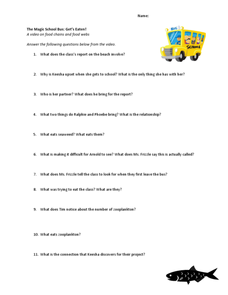 Magic School Bus Worksheets - Worksheets