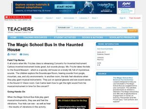 The Magic School Bus In the Haunted House Lesson Plan