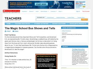 The Magic School Bus Shows and Tells Lesson Plan