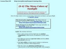 The Many Colors of Sunlight Lesson Plan