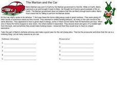 The Martian and the Car Worksheet