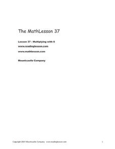 The Math Lesson 37: Multiplication Worksheet