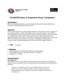 "The MATRIX Game: A Cooperative Group ""Competition"" Lesson Plan"