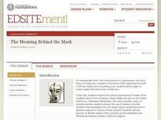 The Meaning Behind the Mask Lesson Plan
