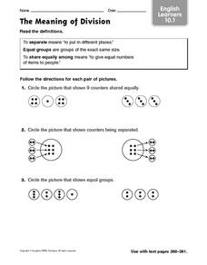The Meaning of Division Worksheet
