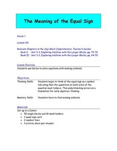 The Meaning of the Equal Sign Lesson Plan