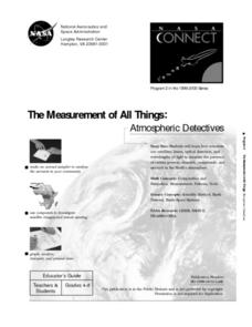 The Measurement of All Things: Atmospheric Detectives Lesson Plan
