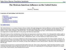 The Mexican-American Influence on the United States Lesson Plan
