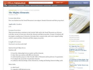 The Mighty Elements: Using the Visual Thesaurus to Investigate Chemical Elements Lesson Plan