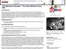 """The Missiles of October"": The Cuban Missile Crisis, 1962 Lesson Plan"