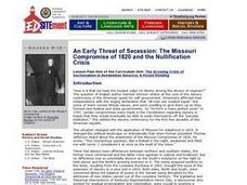 The Missouri Compromise of 1820 Lesson Plan