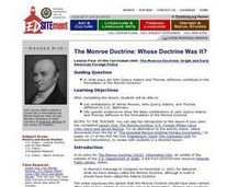 The Monroe Doctrine: Whose Doctrine Was It? Lesson Plan