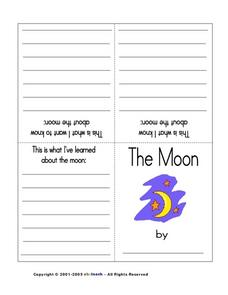The Moon (Book in Color) Worksheet