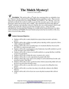 The Mulch Mystery! Lesson Plan