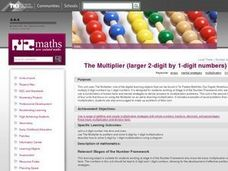 The Multiplier (larger 2-digit by 1-digit numbers) Lesson Plan