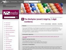 The Multiplier (small 2-digit by 1-digit numbers) Lesson Plan