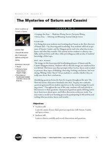 The Mysteries of Saturn and Cassini Lesson Plan
