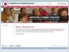 The National Economy - Measures and Models Lesson Plan