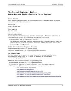 The Natural Regions of Quebec: From North to South...Quebec's Forest Regions Lesson Plan