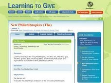 The New Philanthropists Lesson Plan