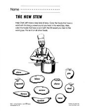 The New Stew Worksheet