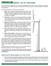 The New Wind Turbine Lesson Plan