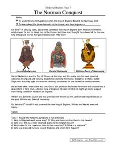 The Norman Conquest Worksheet