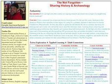 the Not Forgotten - Sharing History & Archaeology Lesson Plan