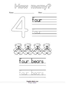 The Number 4 Worksheet