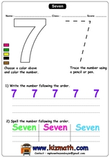 The Number 7 Worksheet