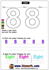 The Number 8 Worksheet
