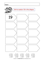 The Number Nineteen Worksheet