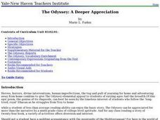 The Odyssey: A Deeper Appreciation Lesson Plan