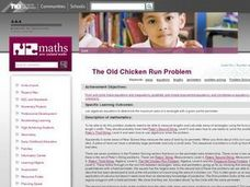 The Old Chicken Run Problem Lesson Plan