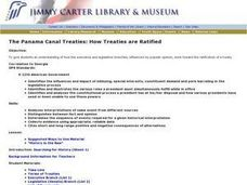 The Panama Canal Treaties: How Treaties Are Ratified Lesson Plan