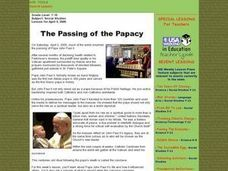 The Passing of the Papacy Lesson Plan